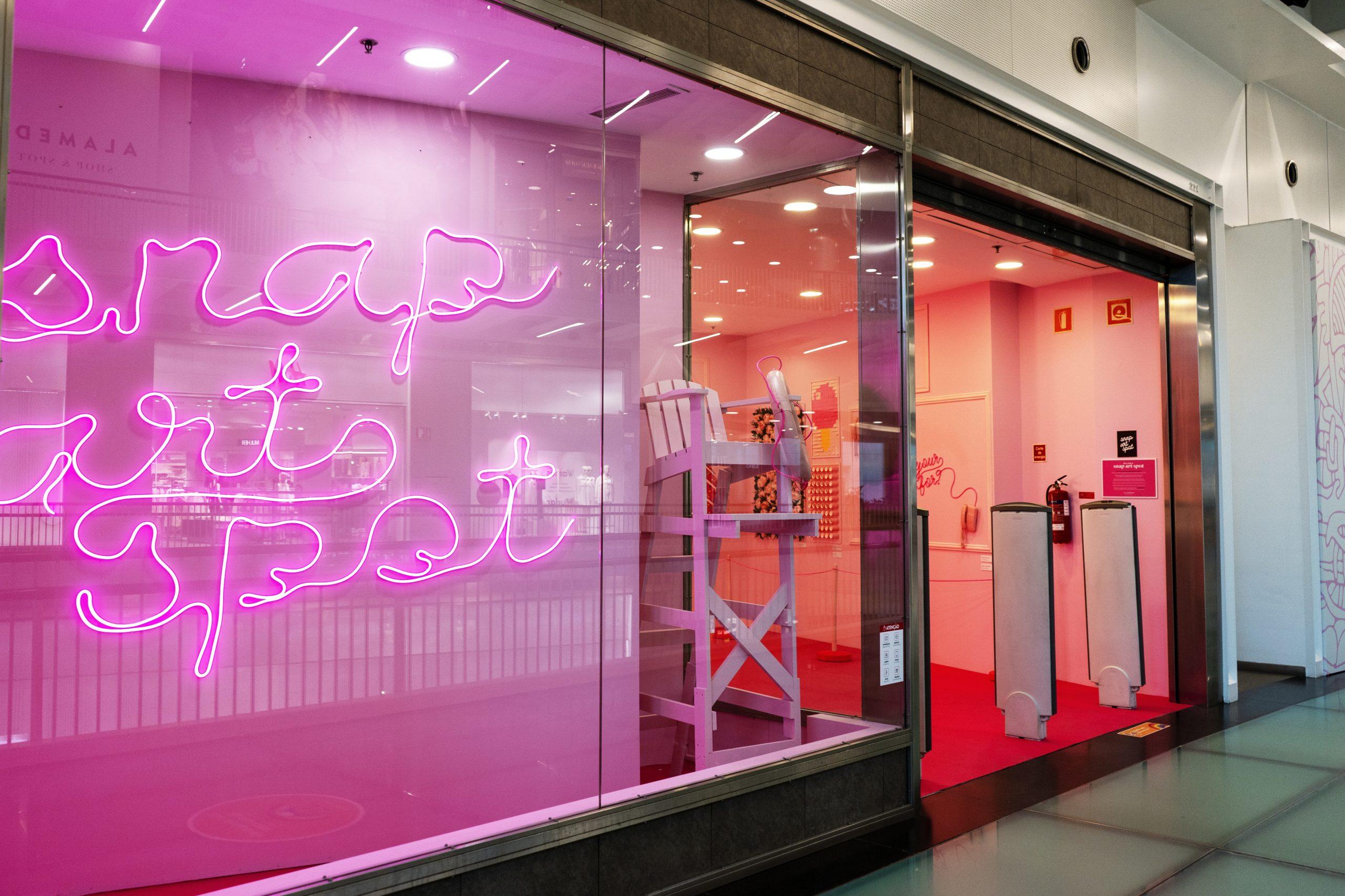 entrada do snap art spot no Alameda shopping