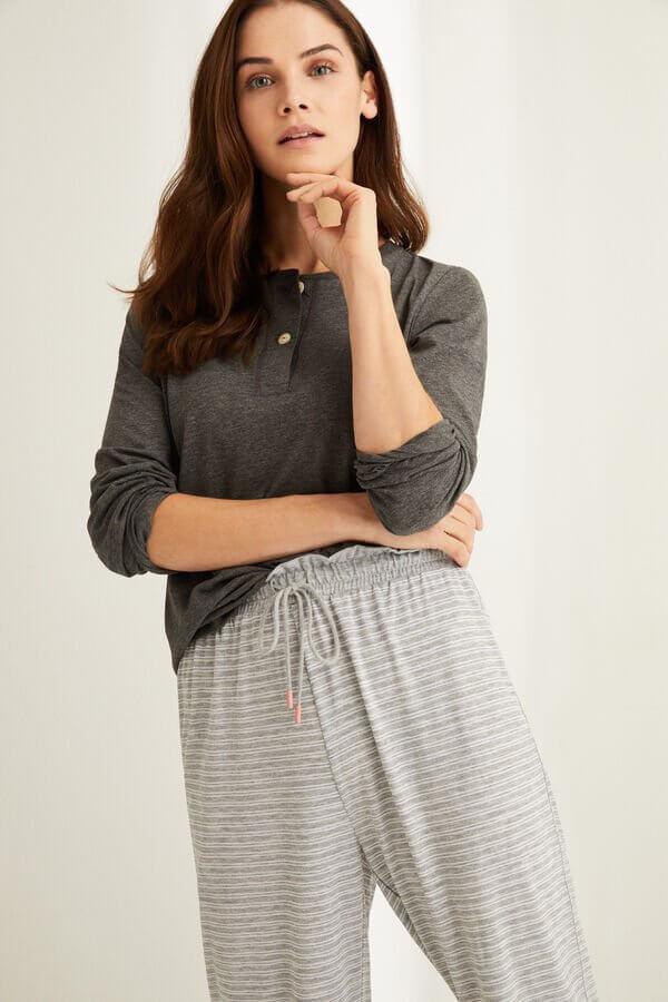 calças de pijama às riscas da women's secret